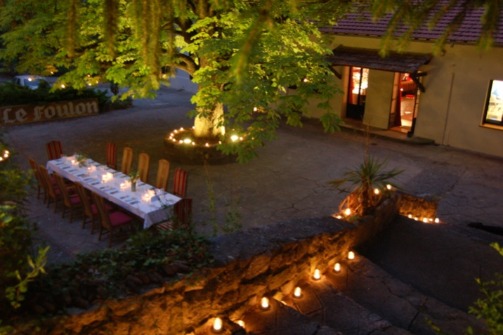 Night of a thousand candles - on this particular occasion the courtyard was lit for a wedding.