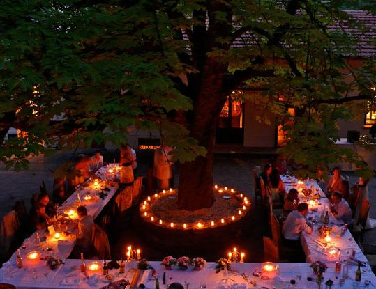 banquet et bougies